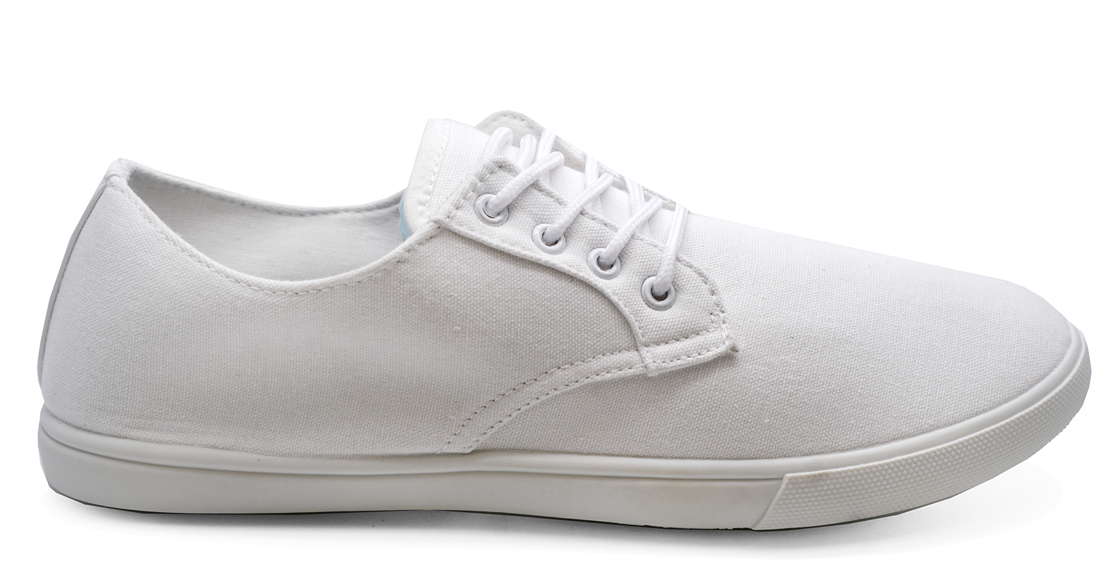 MENS-LACE-UP-WHITE-CANVAS-FLAT-TRAINER-PLIMSOLL-PUMPS-CASUAL-SHOES-SIZES-6-12 thumbnail 9
