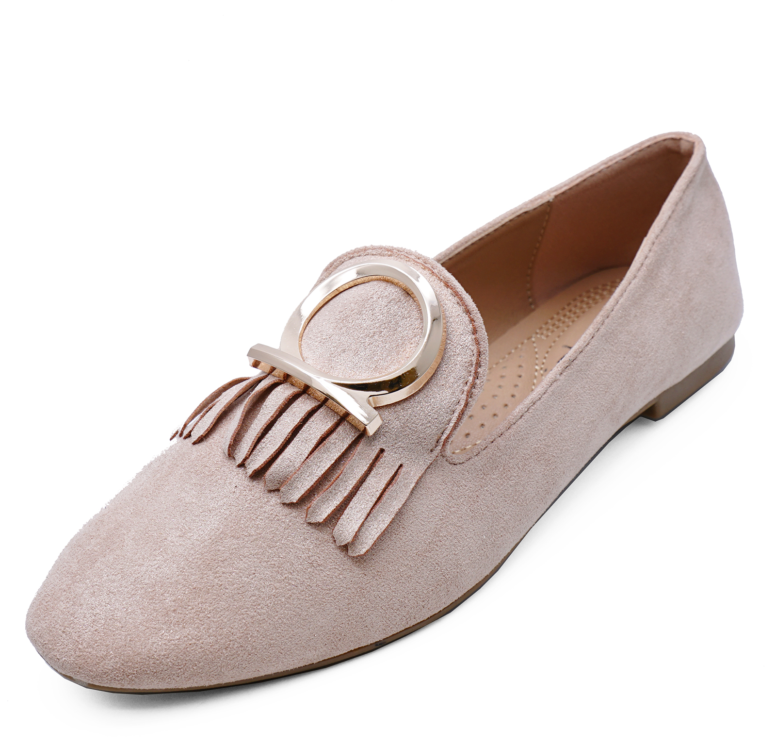 17349c5cd03 Sentinel LADIES BEIGE SLIP-ON FLAT LOAFERS CASUAL COMFY SMART WORK SHOES  PUMPS SIZES 3-