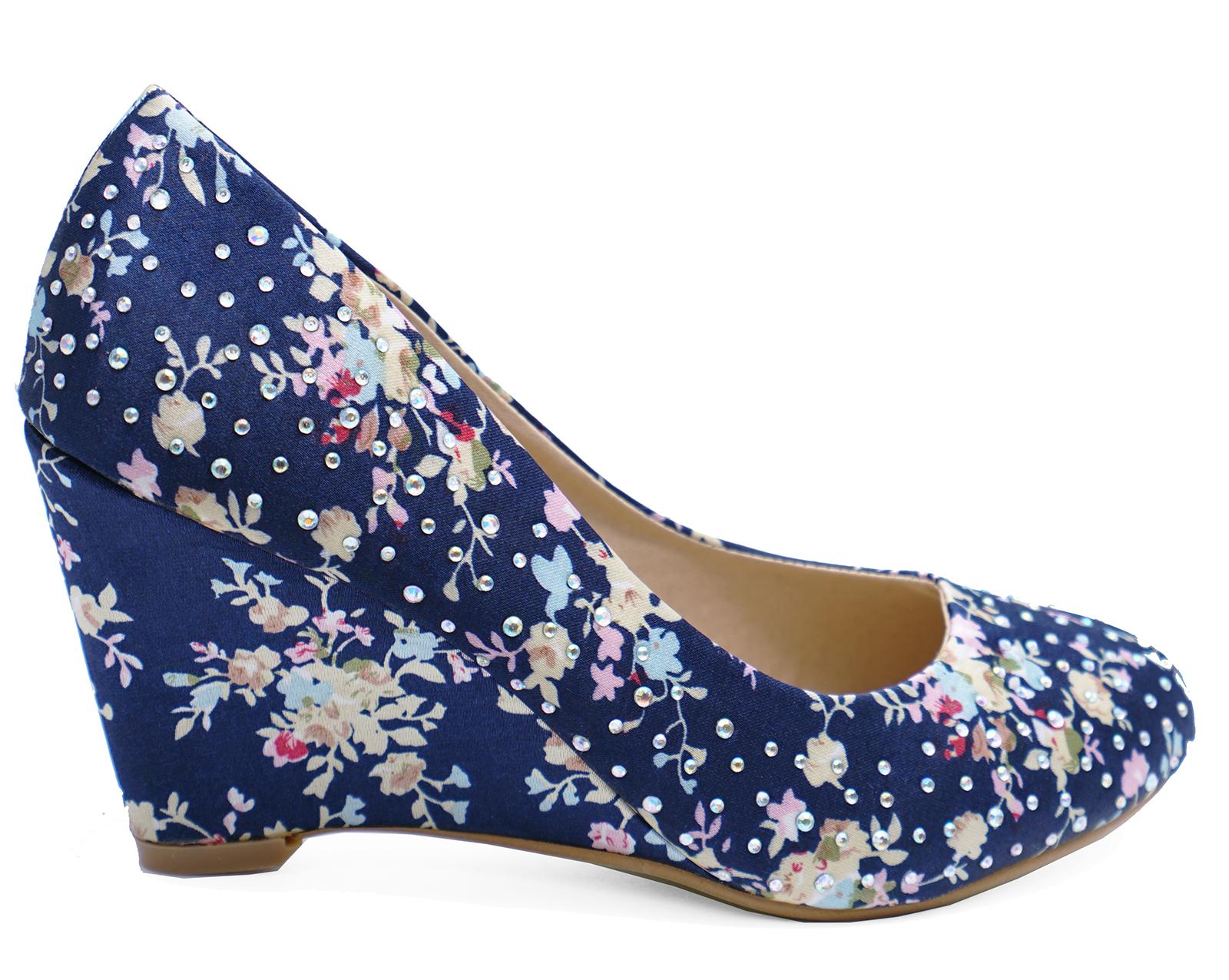 72bc7112797 Navy Blue Wedding Dress Shoes   Saddha