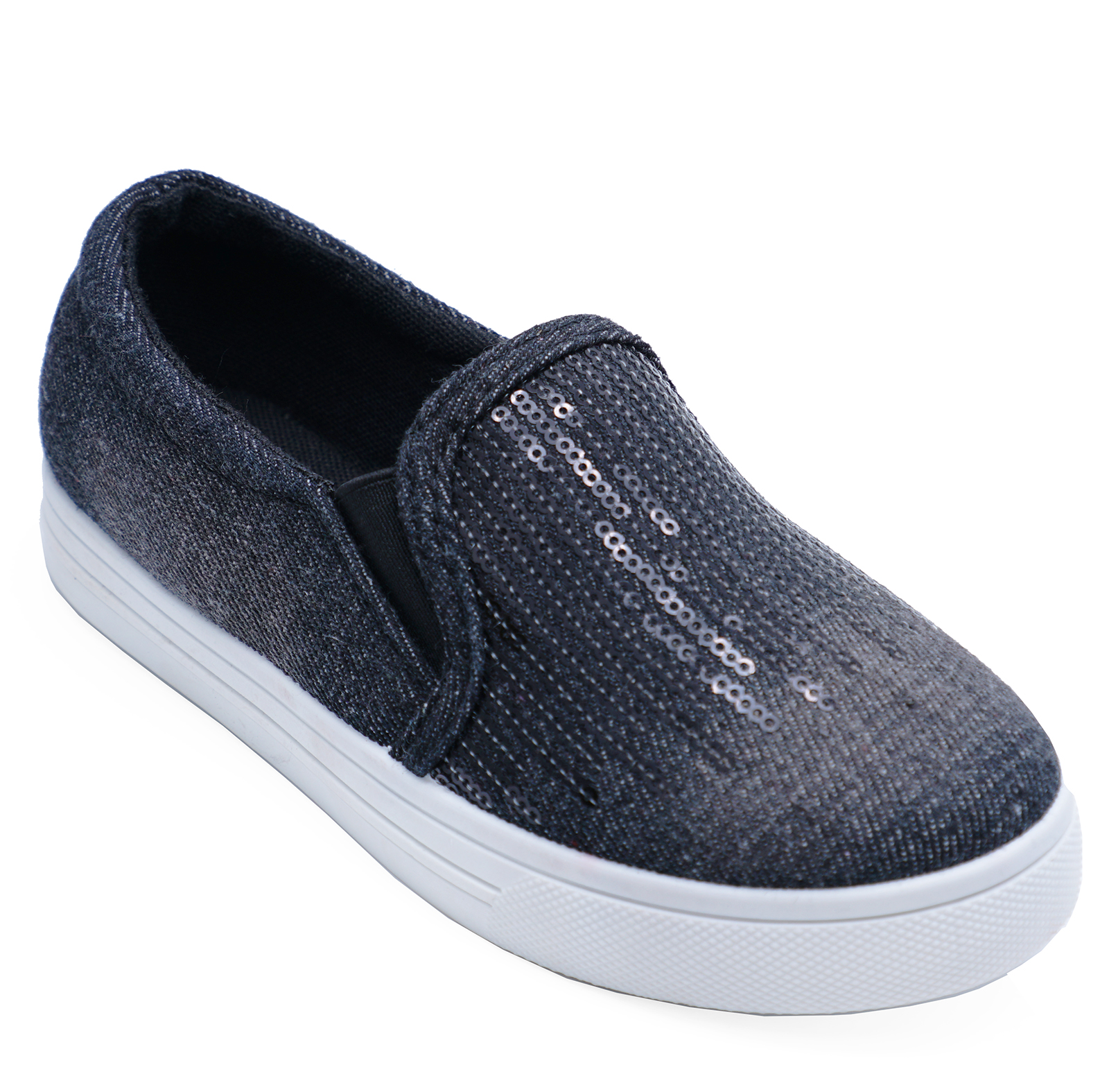 c07d06e5fa9 Sentinel CHILDRENS KIDS GIRLS BLACK SLIP-ON CASUAL SHOES TRAINERS DANCE  PUMPS SIZES 8-1