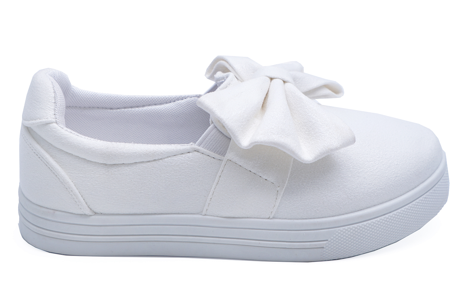 96fac4c5f20 Sentinel CHILDRENS KIDS GIRLS SLIP-ON FLAT CASUAL SHOES WHITE TRAINERS  DANCE PUMPS UK 8-