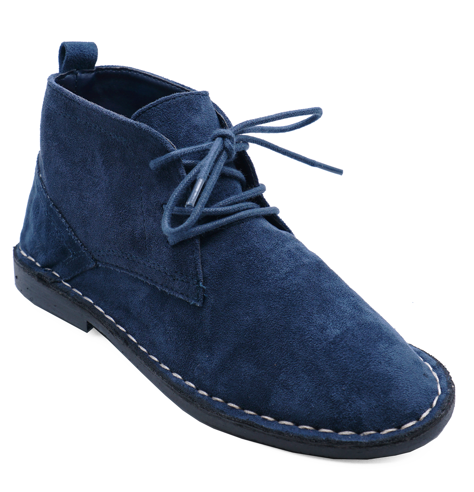 26a28e4f6e0b Sentinel BOYS KIDS NAVY DESERT DEALER LACE-UP SMART CASUAL ANKLE BOOTS SHOES  SIZES 6-