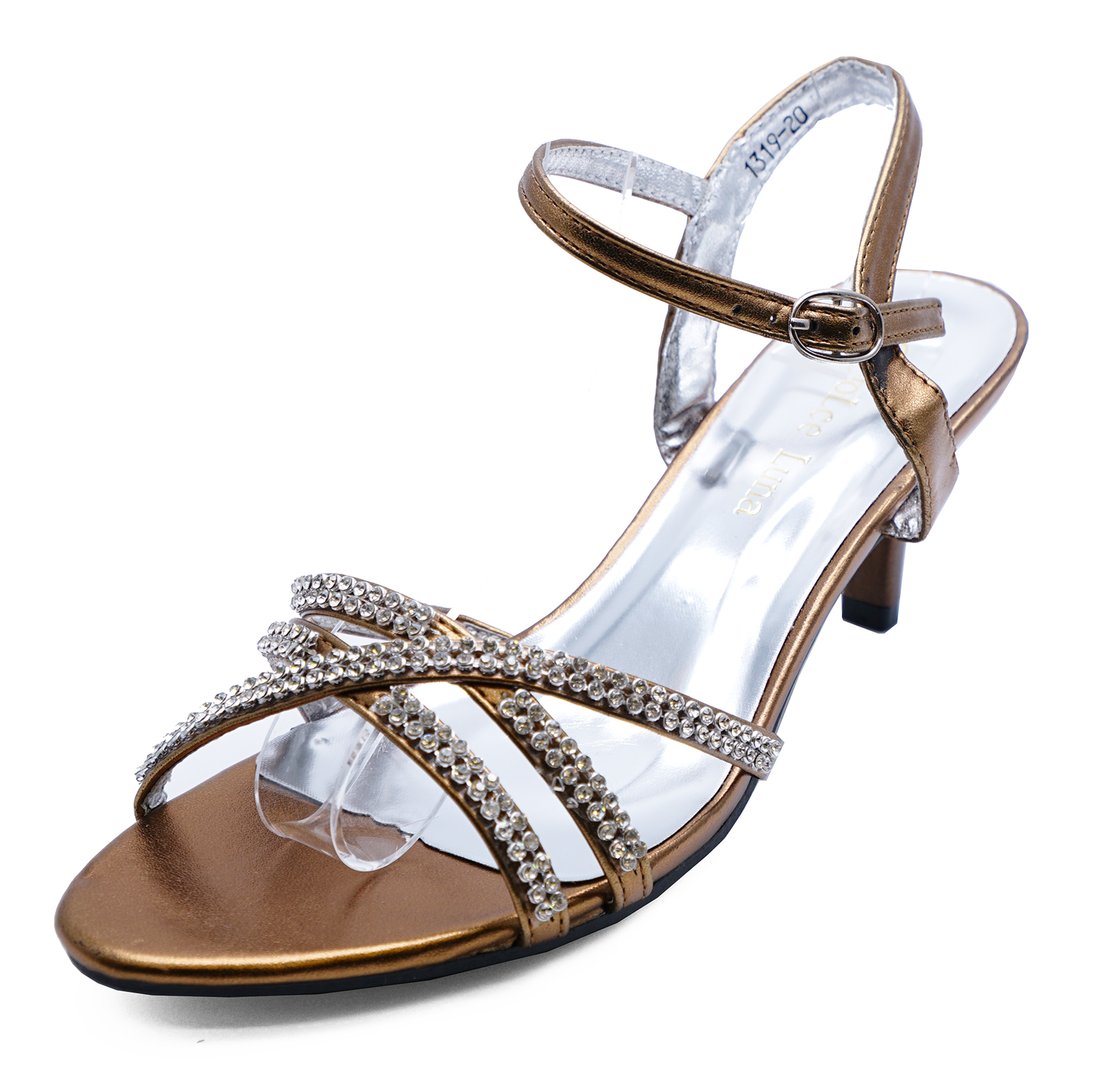 faa96f448 Sentinel LADIES BRONZE STRAPPY EVENING DIAMANTE SANDALS BRIDESMAID PARTY  SHOES SIZE 3-8