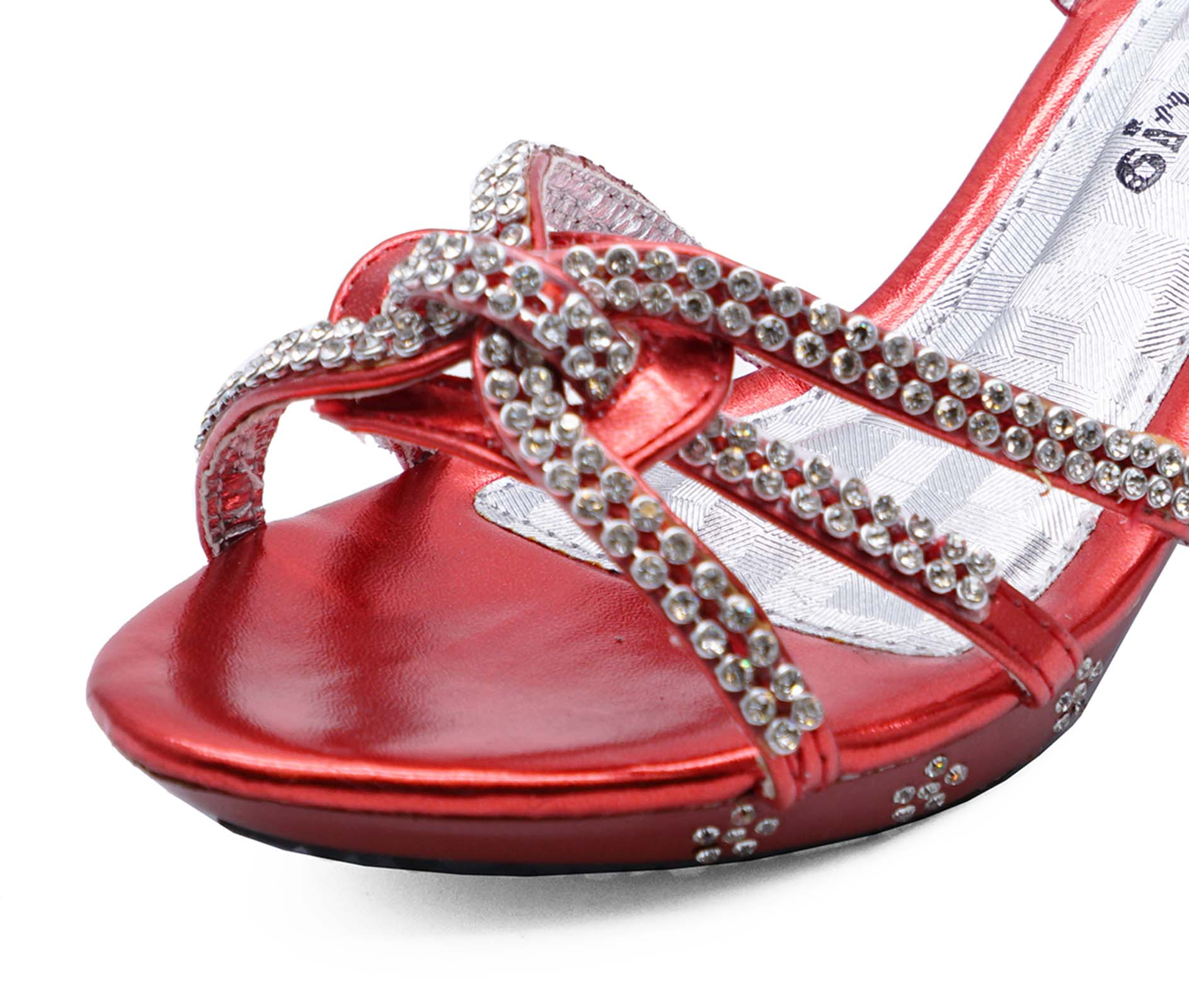 647d16ccdf92 Sentinel GIRLS CHILDRENS RED DRESS-UP DIAMANTE LOW-HEEL SANDALS PARTY SHOES  SIZES 10-