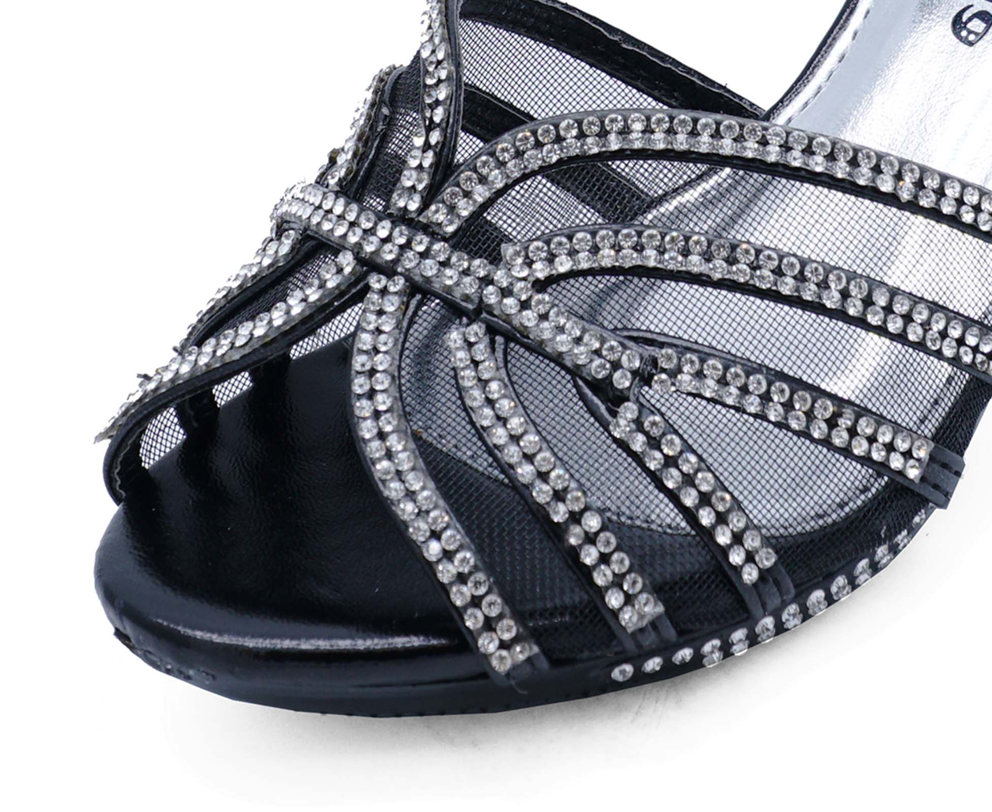 b93111714 Sentinel GIRLS CHILDRENS BLACK DIAMANTE LOW-HEEL SANDALS PRETTY PARTY DRESS  SHOES UK 10-2
