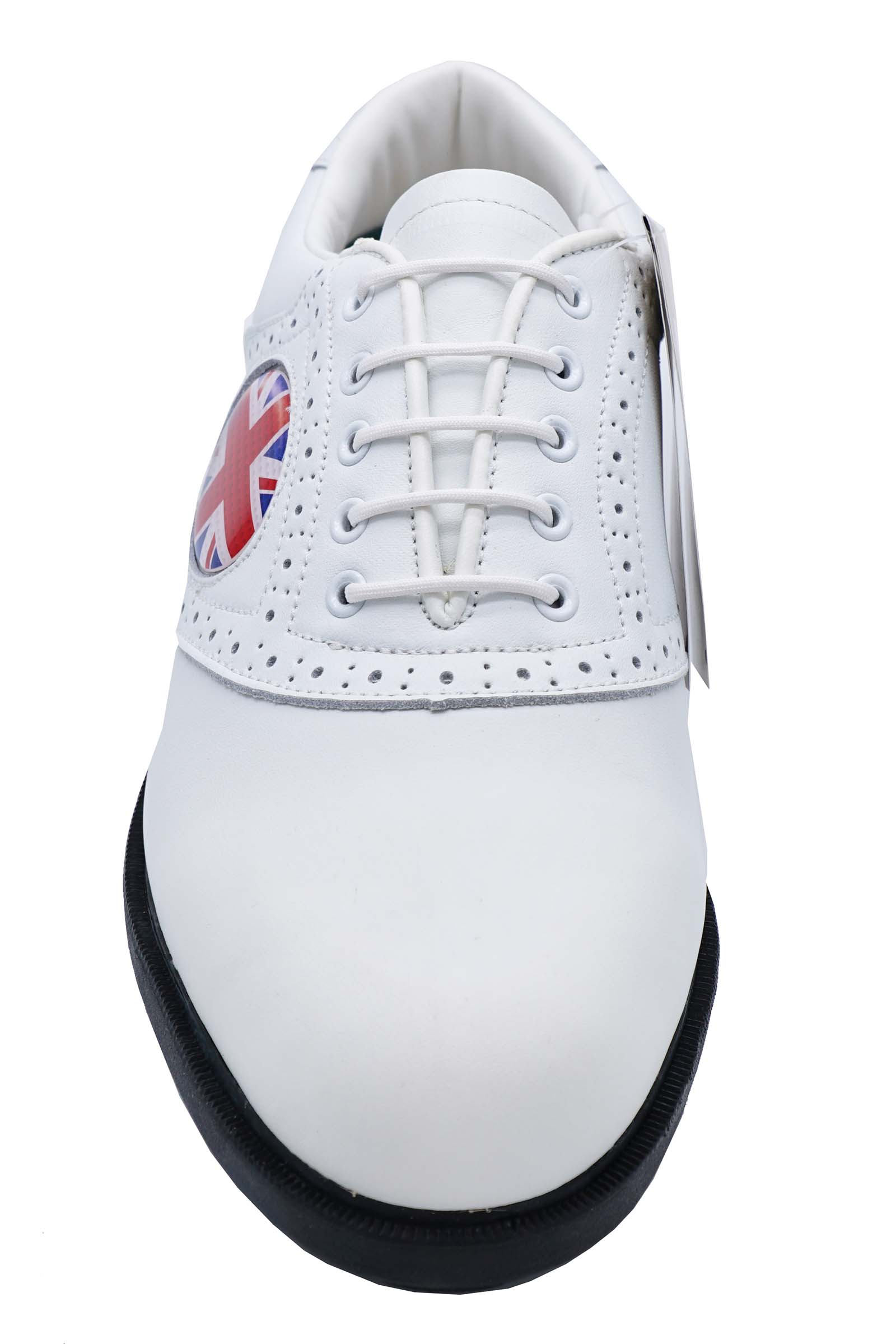 MENS-WHITE-LEATHER-LACE-UP-SPIKELESS-CASUAL-CLASSIC-GOLF-COMFORT-SHOES-UK-6-11