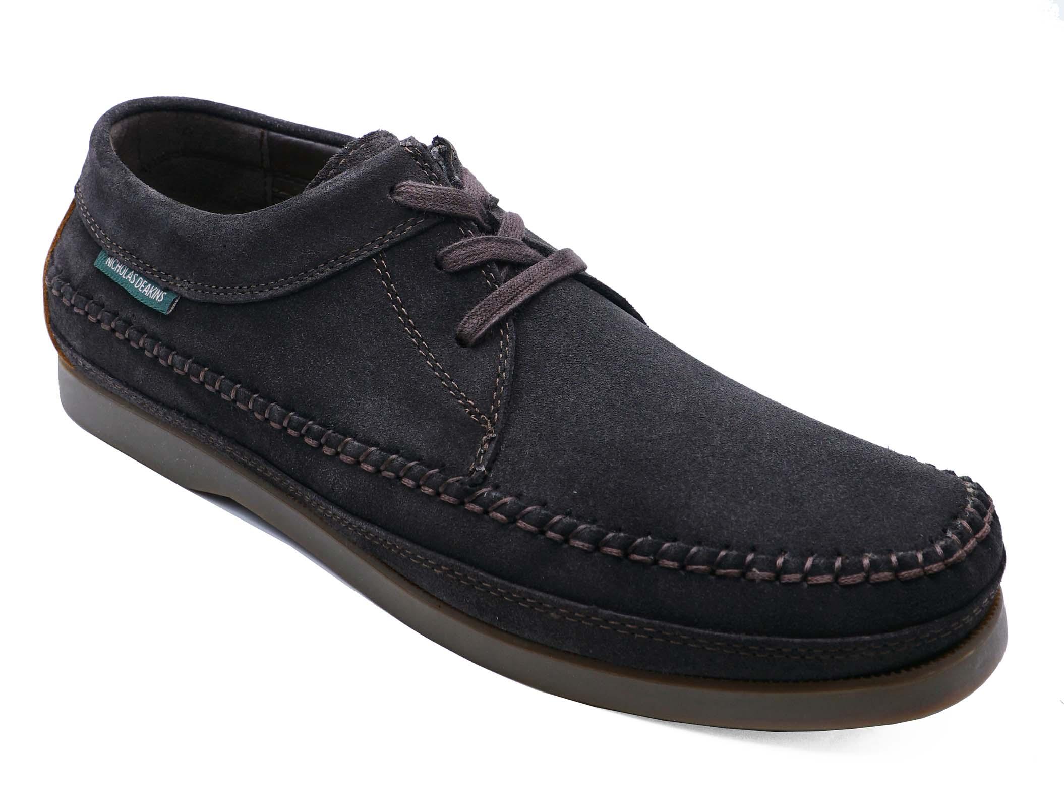 Suede Uk Shoes Brown 11 Comfy 6 up Lace Mens Driving Moccasins Nicholas Deakins TRq51xpvw