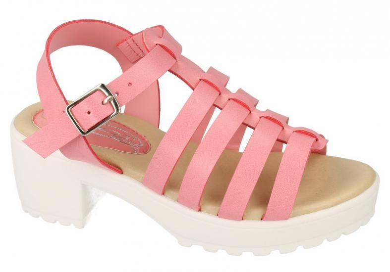 Beach Shoes Girls Sandals 10 Pink Sizes Childrens Strappy Platform Summer 2 xxwSqHBg