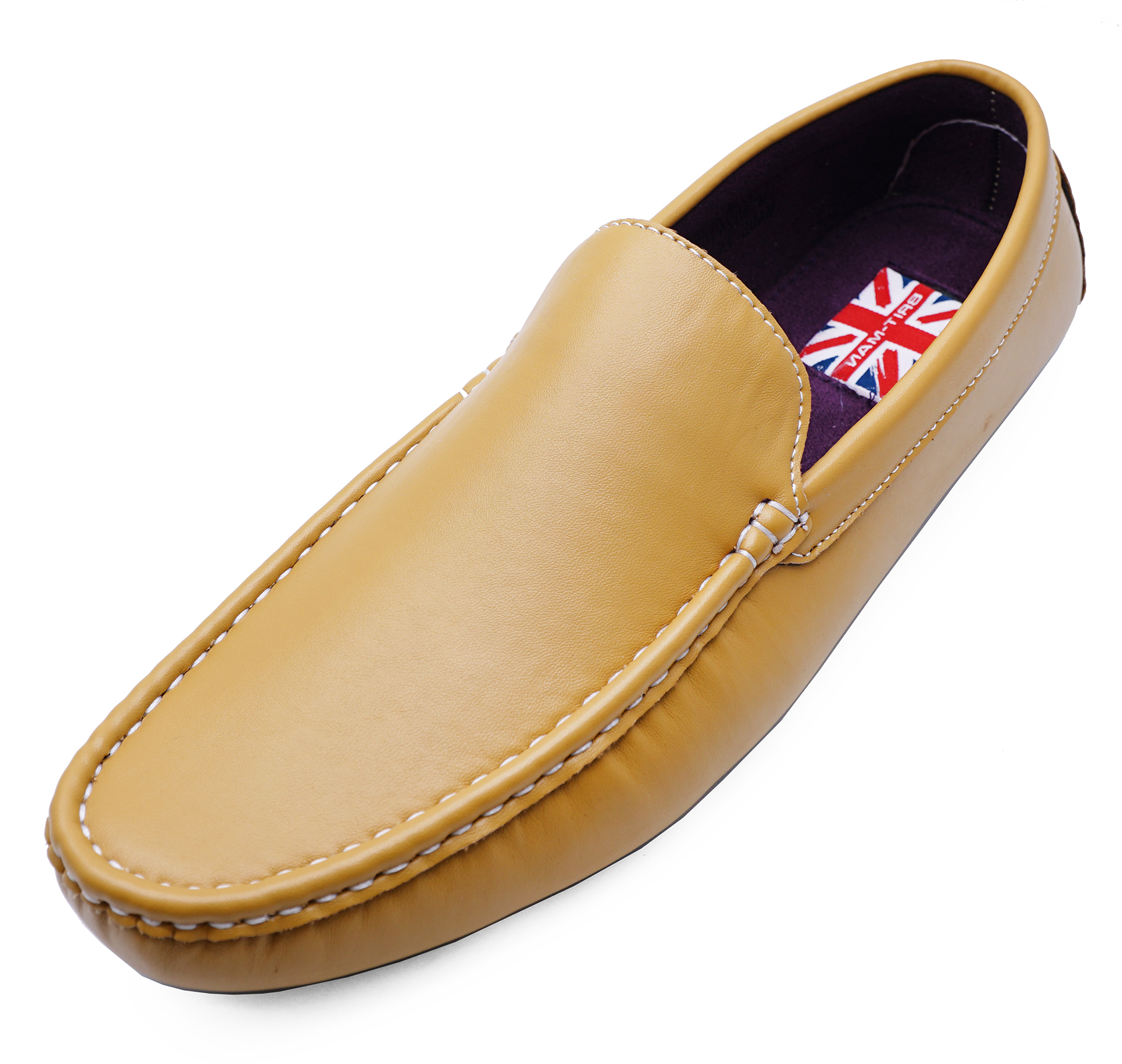 8c7b92aad63c08 Sentinel MENS FLAT YELLOW SLIP-ON SMART MOCCASIN CASUAL LOAFERS DRIVING  COMFY SHOES 6-11