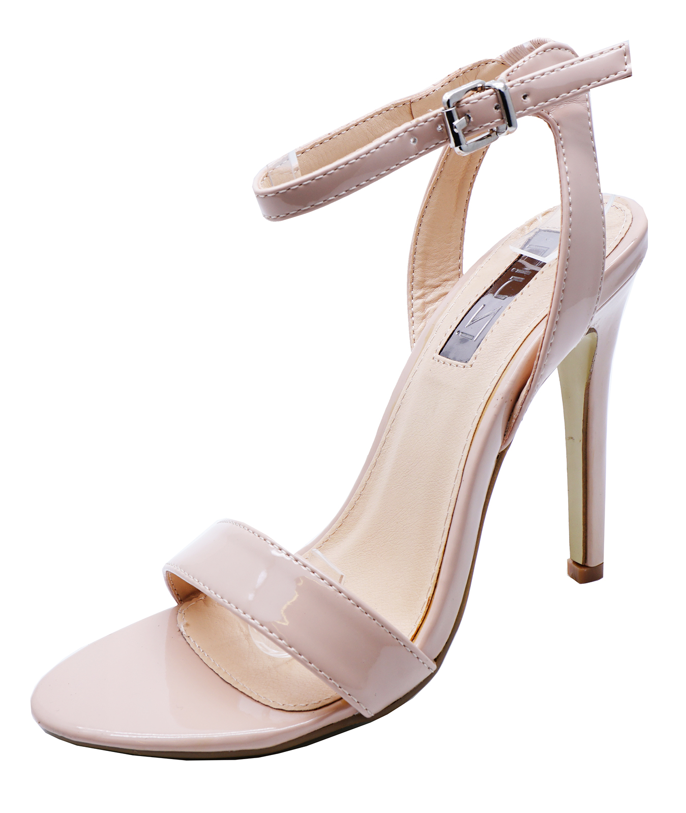 12f340192 Sentinel LADIES NUDE STRAPPY OPEN-TOE BRIDESMAID BRIDE WEDDING PARTY PROM SANDALS  3-8