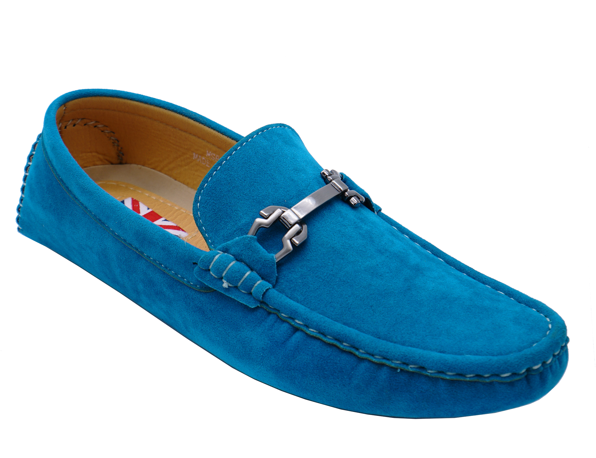 0544e8871cbcd8 Sentinel MENS FLAT SLIP-ON DRIVING SMART CASUAL BLUE LOAFERS DECK SHOES  MOCASSINS UK 6-