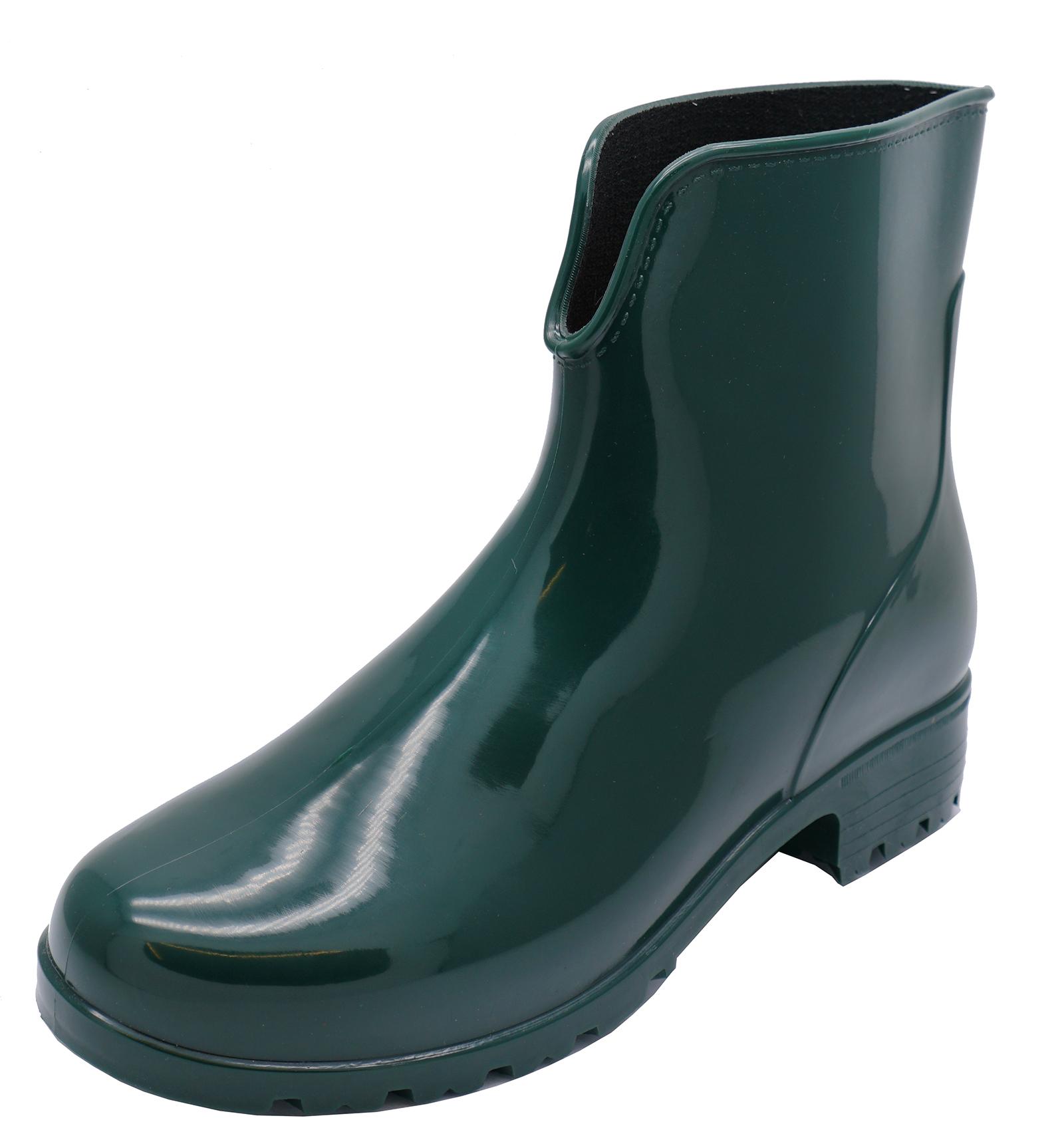 bd6dac00d5a Details about WOMENS GREEN ANKLE GARDEN WELLIES WELLINGTON WALKING RAIN  BOOTS SHOES SIZES 3-8