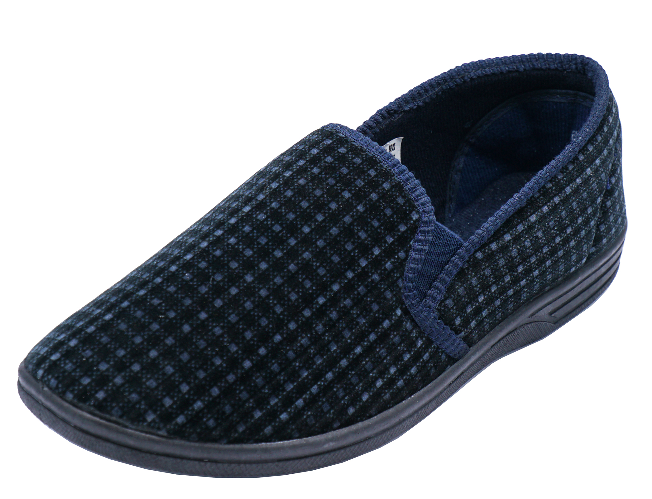 Groovy Mens Navy Comfortable Slippers Slip On Indoor Outdoor Flat Interior Design Ideas Ghosoteloinfo