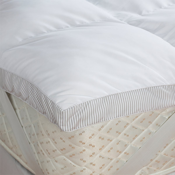 Double Bed Size Hollowfibre Mattress Topper With Corner Straps 5cm