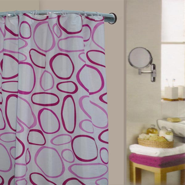 Linens Limited Pebble Polyester Shower Curtain Fuschia
