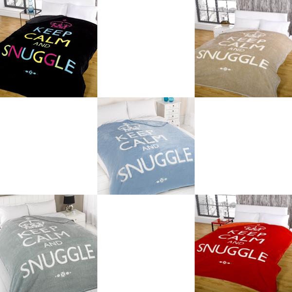 Dreamscene Keep Calm And Snuggle Mink Faux Fur Throw EBay Extraordinary Keep Calm And Throw A Blanket On It