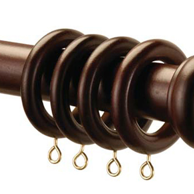 Sentinel Speedy County 28mm Wood Curtain Rings 4 Pack