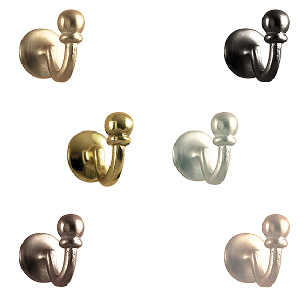 For Designer Fabric Curtains 2 x Curtain hook Crystal Chrome Tie Back Hooks