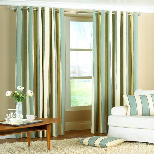 Sentinel Riva Home Gatsby Stripe Panama Eyelet Lined Curtains