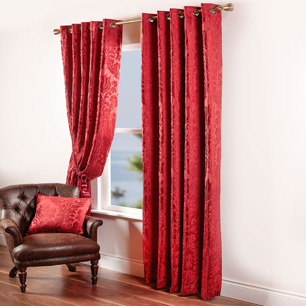Red Damask Curtains Uk Curtain Menzilperde Net