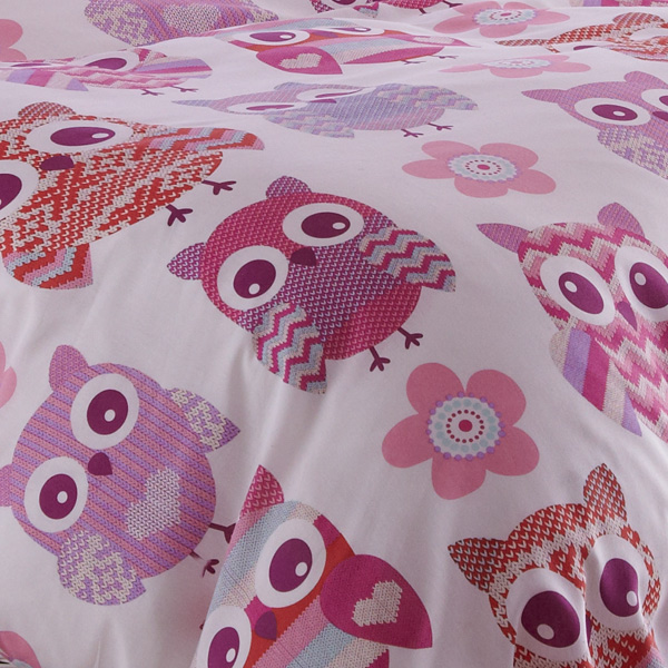 cotton bed set owl size fox cat store product linen sheet cover flower stripe bedding cartoon queen panda duvet modern pillow