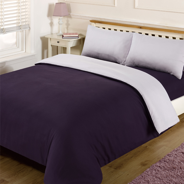 Linens Limited Plain Reversible Duvet Cover Set Ebay