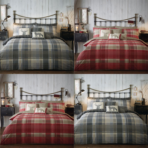 Sentinel Dreams N Ds Connolly Check 100 Brushed Cotton Duvet Cover Set
