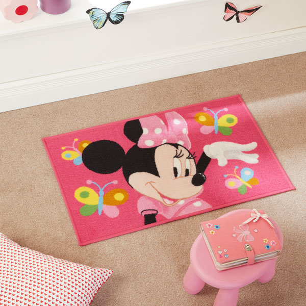 minnie mouse rug bedroom matrix disney minnie mouse childrens rug multi 50 x 80 16201