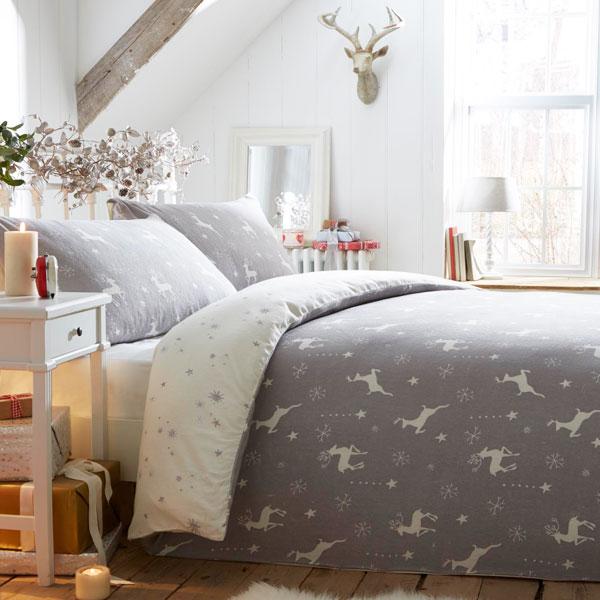 Fusion Christmas Reindeer 100% Brushed Cotton Flannelette Duvet ...