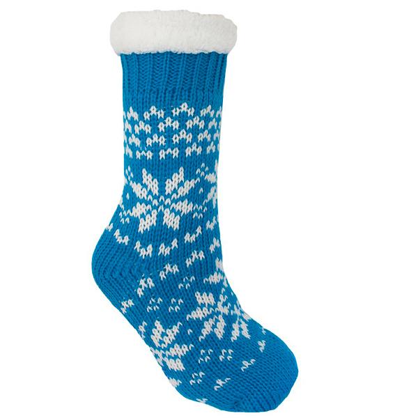 Foxbury Women's Fairisle Knitted Bootie Slipper Socks With Grip | eBay