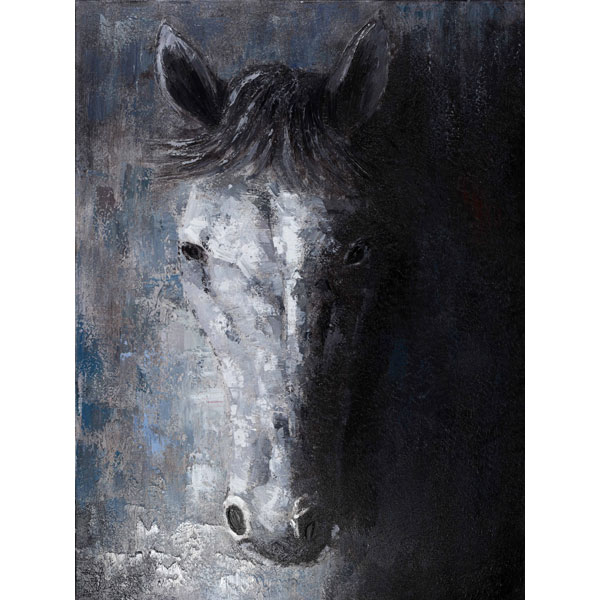 Scatter Box Jae Park Joon Horse Framed Hand Painted Print Canvas ...