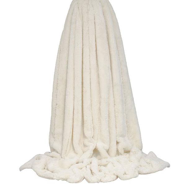 Cream Non Slip Lining.. . Heavyweight Loyal Empress Throw Super Soft Faux Fur
