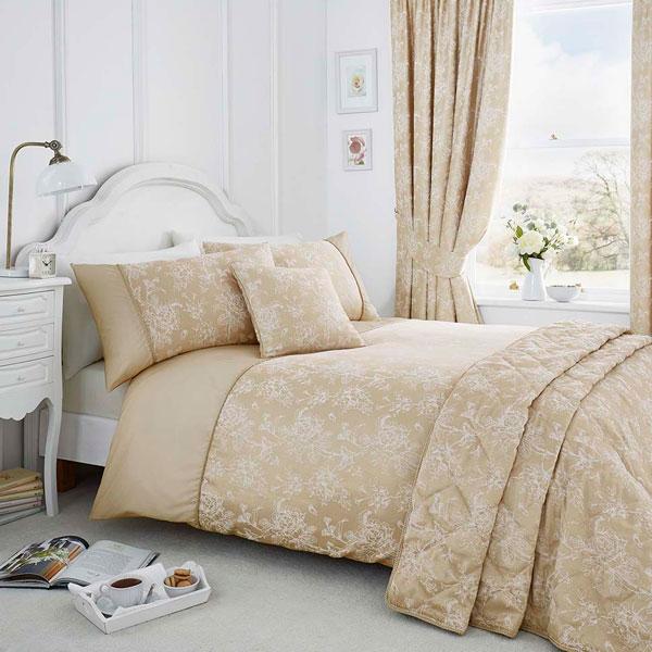 thumbnail 4 - Serene Jasmine Floral Weave Cotton Rich Duvet Cover Set