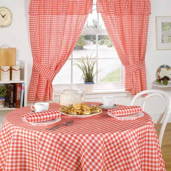 Emma Barclay Molly Gingham Check Kitchen Pencil Pleat