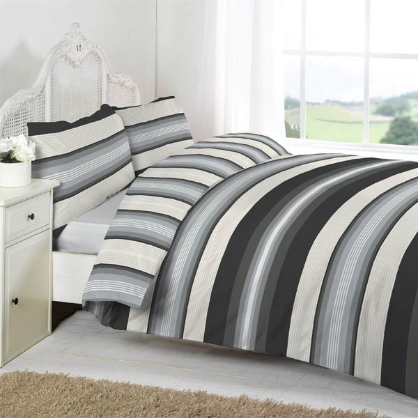 Linens Limited Retro Stripe Duvet Cover Set; Picture 2 Of 10; Picture 3 Of  10; Picture 4 Of 10