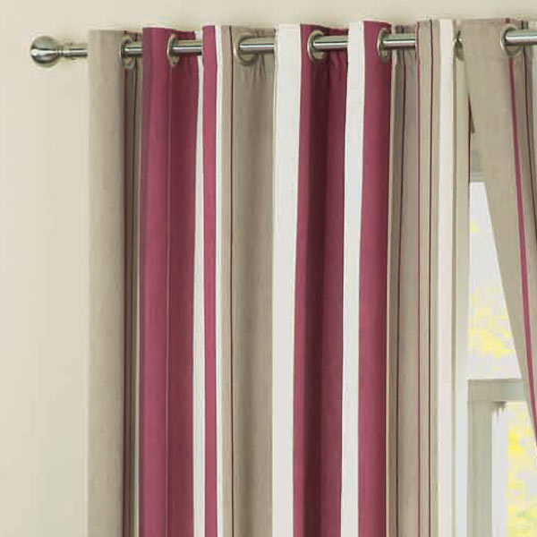 Dreams 'N' Drapes Whitworth Stripe Eyelet Lined Lined Lined Curtains 74c8ce