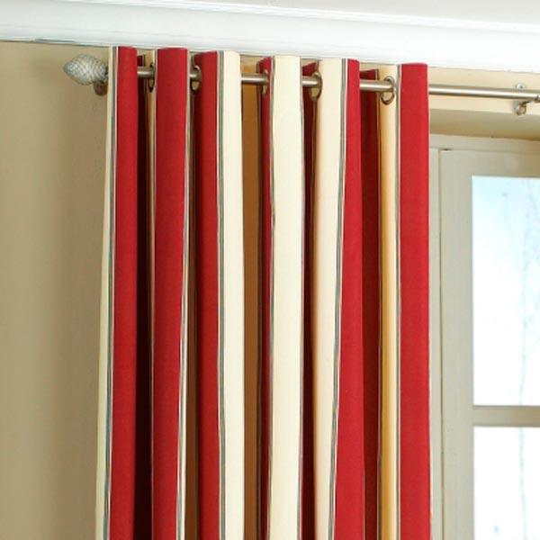 Raspberry Striped Curtains - Curtain Ideas