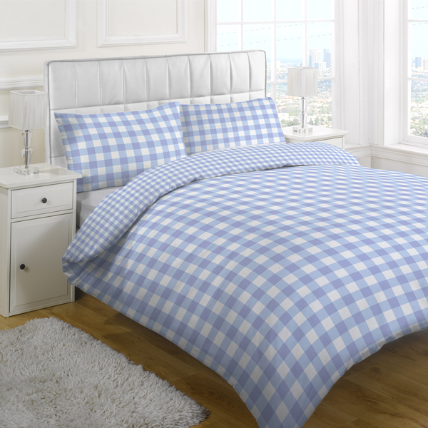 Blue Gingham Duvet Cover - Sweetgalas : pale blue quilt cover - Adamdwight.com