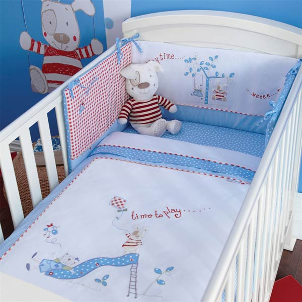izziwotnot time to play petit henri cot cot bed bumper 5060229212276