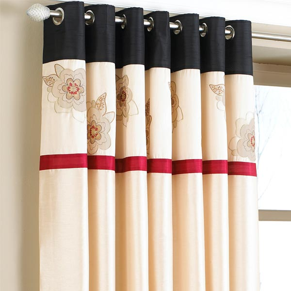 Red And Cream Eyelet Curtains Nrtradiant Com