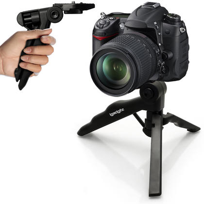 iGadgitz 2 in 1 Pistol Grip Stabilizer and Mini Lightweight Table Top Stand Tripod for Digital Camera, DSLR, & Camcorder Thumbnail 8