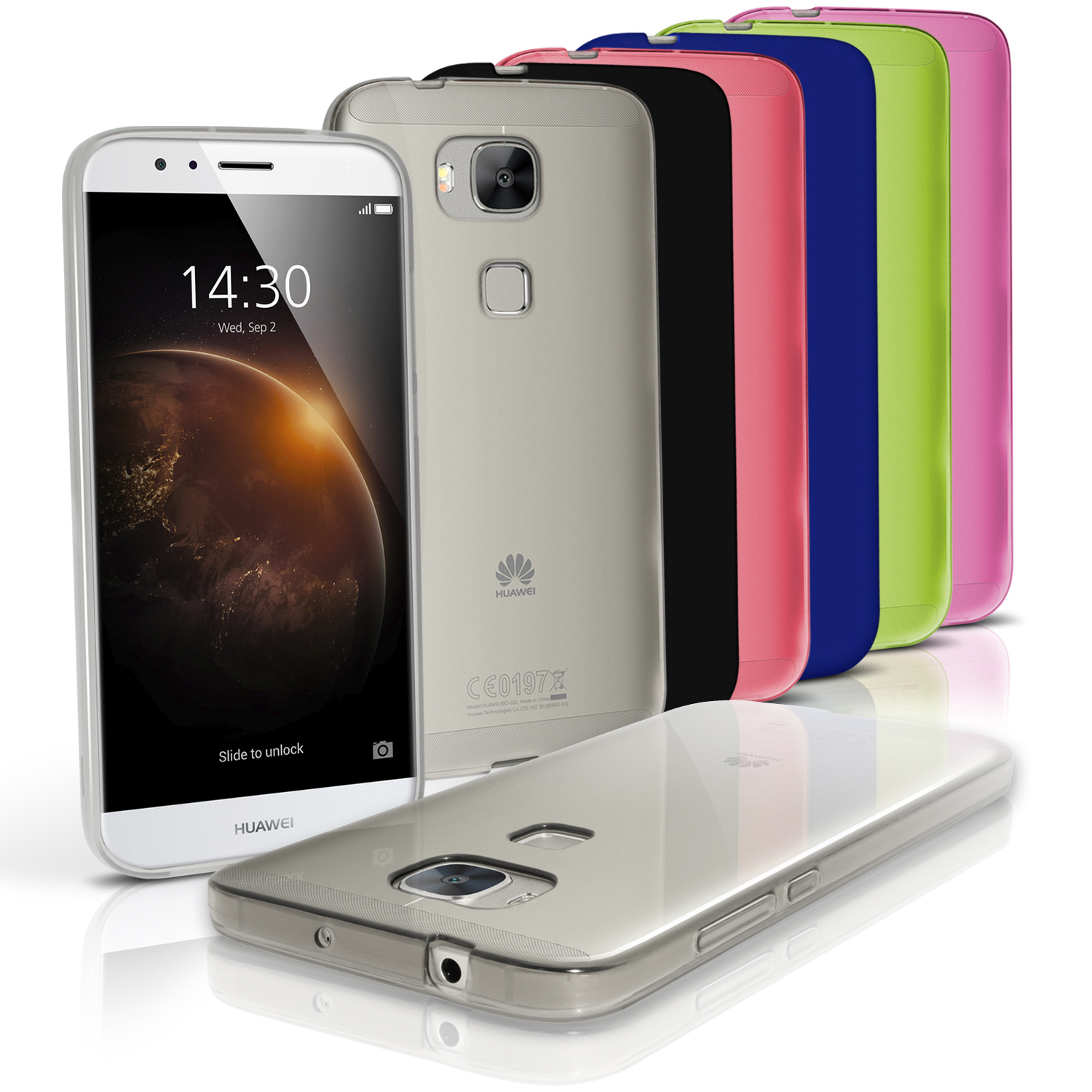 iGadgitz Glossy TPU Gel Skin Case Cover for Huawei G8 + Screen Protector
