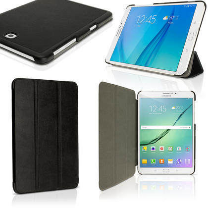 "iGadgitz PU Leather Smart Cover Case for Samsung Galaxy Tab S2 8"" SM-T710 + Stand + Auto Sleep Wake & Screen Protector Thumbnail 1"