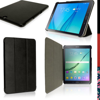 "iGadgitz PU Leather Smart Cover Case for Samsung Galaxy Tab S2 9.7"" SM-T810 + Stand + Auto Sleep Wake & Screen Protector Thumbnail 1"