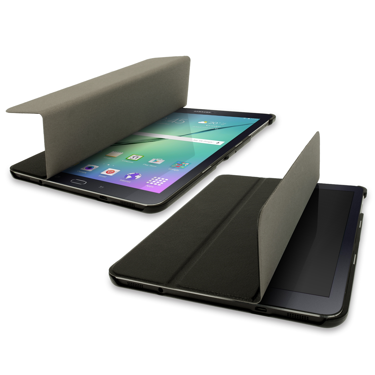 pu leather smart cover for samsung galaxy tab s2 9 7 sm. Black Bedroom Furniture Sets. Home Design Ideas