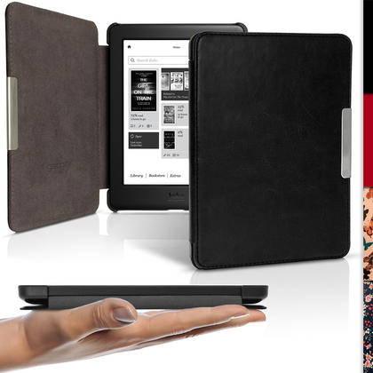 iGadgitz Slim PU Leather Shell Case Cover for Kobo Glo HD, Kobo Touch 2 with Sleep Wake & Magnetic Closure Thumbnail 2