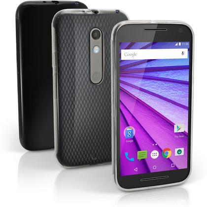 iGadgitz Glossy TPU Gel Skin Case Cover for Motorola Moto X Play XT1562 + Screen Protector Thumbnail 1