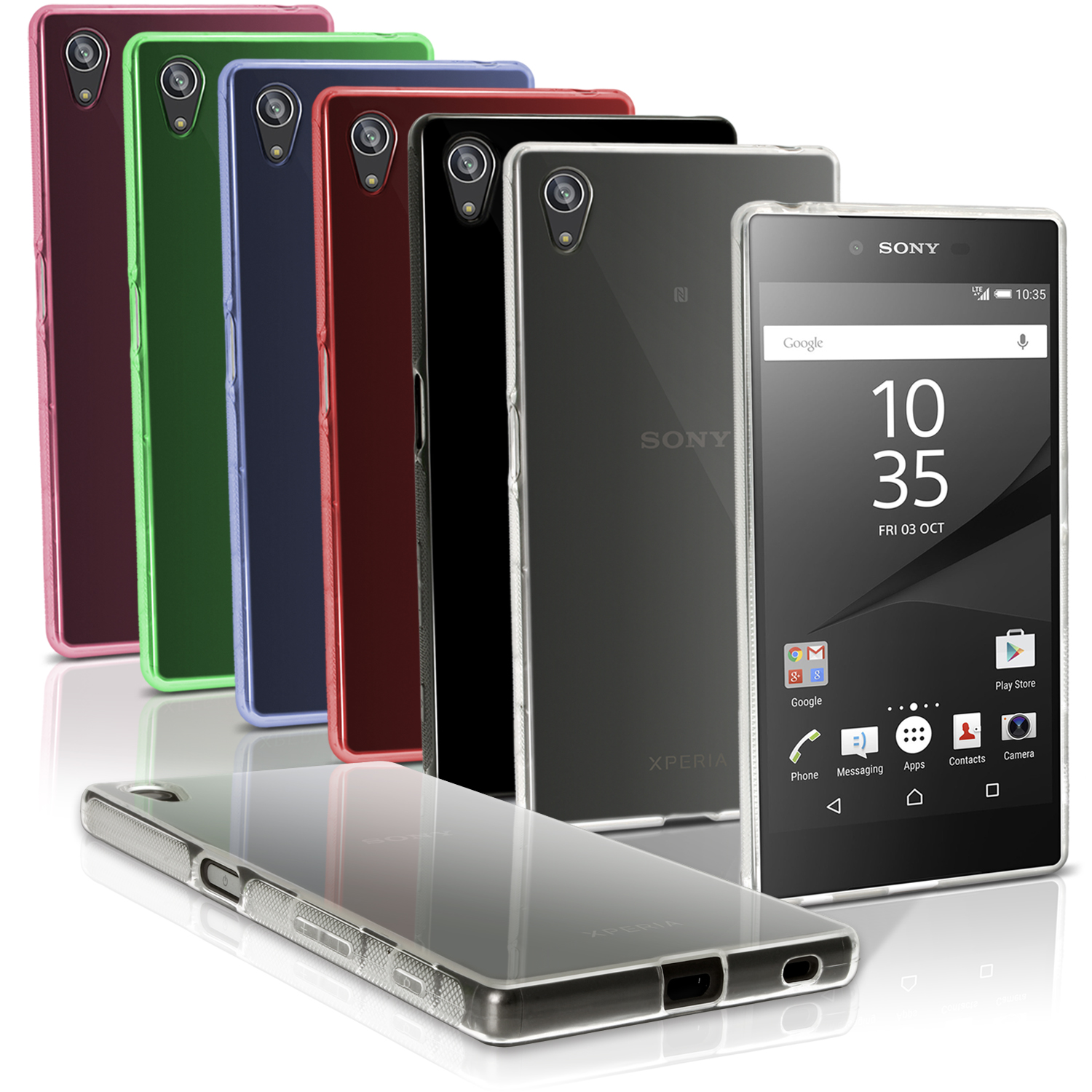 iGadgitz Glossy TPU Gel Skin Case Cover for Sony Xperia Z5 E6603 + Screen Protector