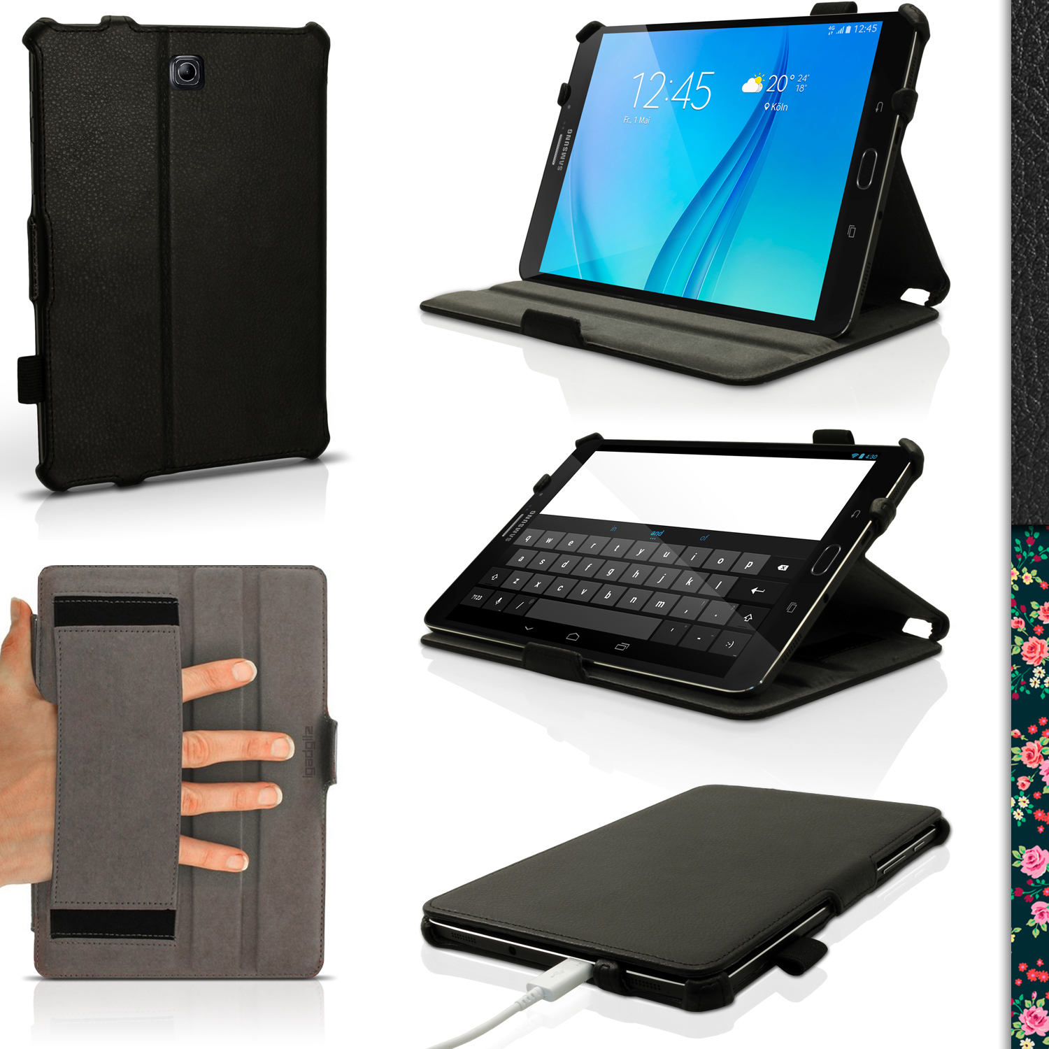 iGadgitz PU Leather Case Cover for Samsung Galaxy Tab S2 8'' SM-T710 with Stand + Sleep Wake + Screen Protector