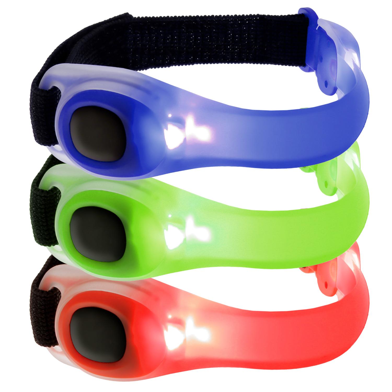 iGadgitz Xtra Lumin Safe Reflective Waterproof Silicone Armband LED Flashing Light for Running, Cycling, Walking & More
